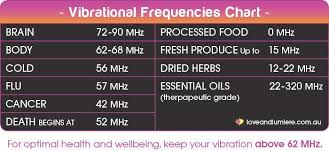 Food Vibrational Frequency Chart Average Vibrational Frequencies Of The Body And Foods We