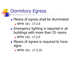 28 dormitory egress means of shall be illuminated nfpa 101 emergency lighting