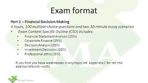 cma part financial decision making ppt  exam format part 2 financial decision making