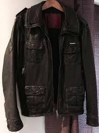 superdry uk official superdry mens vintage style black leather jacket size xl black superdry bags best value