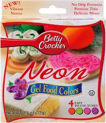 Betty Crocker Gel Food Color Blending Chart Betty Crocker Gel Icing Food Colors 4 Pkg Neon Bc76010