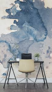 office room diy decoration blue. fabulous creative backdrop shown in this ink spill watercolour wall mural diy clothes 2017 office room decoration blue