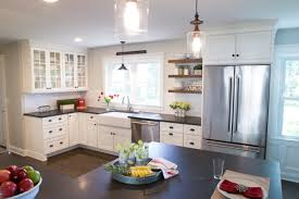 Pros And Cons Of Upper Kitchen Cabinets Versus Open Shelves