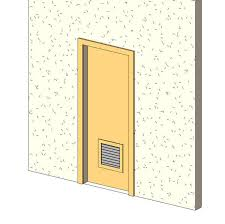 single flush door w louver sc 1 st revit city