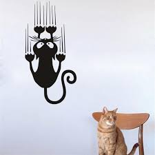 funny climbing cat wall decals vehicle window vinyl wall sticker strong adhesive car decal cute home decor wall graphic decals wall graphic vinyl from