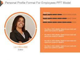 Employee Profile Format Personal Profile Format For Employees Ppt Model Powerpoint