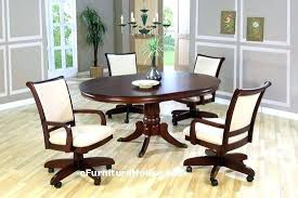 caster dining chair chairs on casters amazing rolling room for c