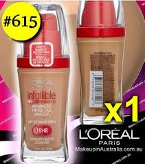 loreal infallible makeup liquid foundation 615 sun beige