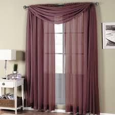 with love home decor abri eggplant rod pocket crushed sheer curtain panel 6 50