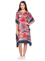 Aujjessa Red Multi Cold Shoulder Kaftan Dress Kaftan Dress Pics