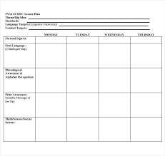 Daily Lesson Plan Template High School Sample Physical Education ...