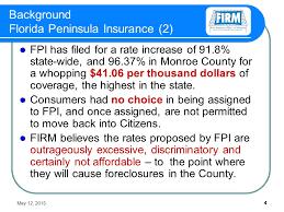 may 12 2016 3 background florida peninsula insurance 1 citizens property insurance became