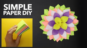 wonderful paper origami project simple paper dahlia sticky notes decoration diy paper crafts