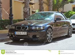 Black Modern Coupe-car BMW 3 Series On Sunny Street, Torrevieja ...