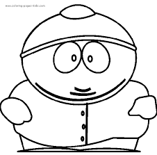 Small Picture South Park color page Coloring pages for kids Cartoon