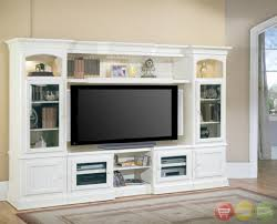 hartford  piece traditional vintage white wall unit tv