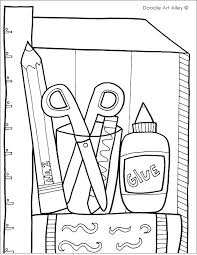 school objects coloring pages school objects coloring pages back to school coloring pages for first grade