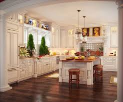 Dark Mahogany Kitchen Cabinets Enchanting Dark Brown Mahogany Wood Floor In Kitchen Twin Pendant