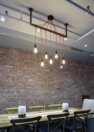 how to design lighting. Simplicity Of The Lighting Makes A Bold Statement In Industrial Dining Room [Design: How To Design