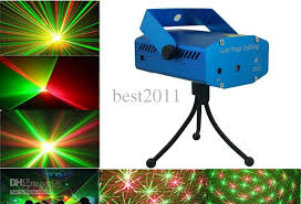 mini laser stage lighting 150mw mini green red laser moving party stage light power adapter tripod user man dhl led stage light landscape light from