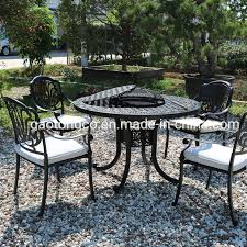 42 black outdoor round dining table