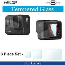 Qoo10 - Gopro Hero 8 <b>Tempered Glass</b> Protector <b>3pcs</b> Set ...