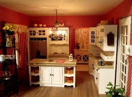 Red Country Kitchen Cabinets Indogatecom Decoration Cuisine Style Bistro