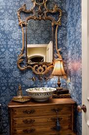 powder room furniture. DTI-powder Room. For A Mediterranean Flair, Consider Furniture Style Vanity Created From Wine Chest Featuring Rustic Glimmers Of Gold To Set The Stage. Powder Room U