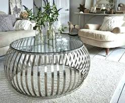 round metal drum coffee table silver tables in glass and inspirations uk