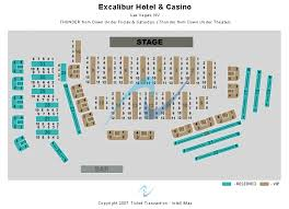 Excalibur Seating Chart Thunder From Down Under Theatre At Excalibur Hotel Casino