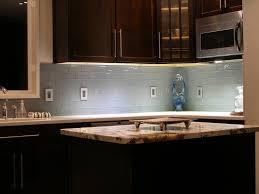 Kitchen Brown Glass Backsplash Countertop Image Of Subway Tile