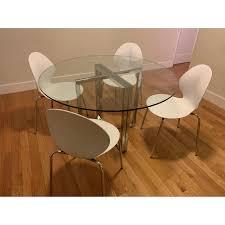 Cb2 Silverado Chrome Round Dining Table Aptdeco