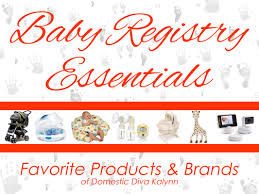 Baby Registry Essentials - Domestic Diva Kalynn