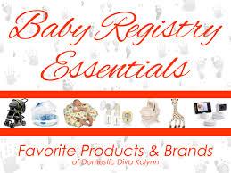 Baby Registry Essentials - Domestic Diva Kalynn