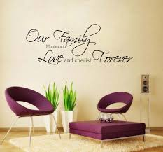 fashion our family moments love forever removable vinyl wall art words stickers for walls home pictures