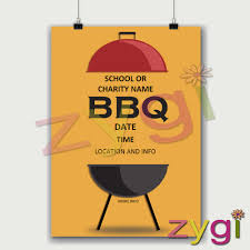 Bbq Poster Charity Pta Poster Editable Barbeque Poster Editable Printables