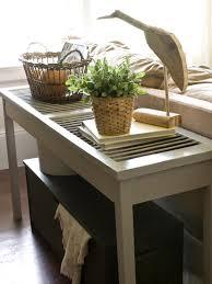 Sofa Table Diy Build A Shutter Console Table Hgtv