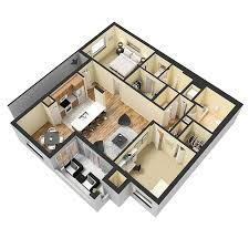 Luxury e Two & Three Bedroom Apartment Homes with Spacious