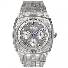 men s watches bulova citizen and wittnauer mens bulova crystal collection watch