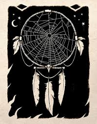 Spider Web Dream Catcher Inspiration Spider Web Dreamcatcher Black And White Drawing By TigerHouseArt