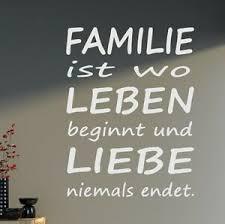 Wandtattoo Spruch Xxl Familie Leben Liebe Sprüche Wohnzimmer