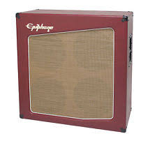 epiphone trigger 412 cabinet 4 cones case for guitar