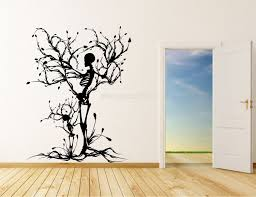 ... Popular Vinyl Wall Art Trees Halloween Theme Spooky Skeleton Silhouette  Extraordinary New Concept Decoration ...