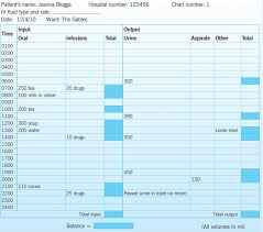 Fluid Balance Chart Nursing Fluid Balance