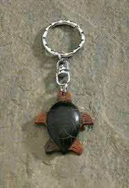 wooden keychain turtle