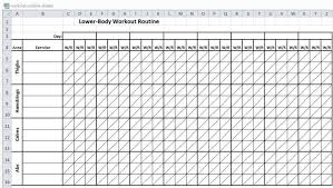 Workout Plan Sheet Planet Fitness Workout Plan Pdf Amatfitness Co