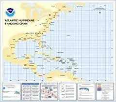 Hurricane Tracking Chart Amazon Com Hurricane Tracking Chart Western Atlantic