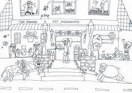 Kleurplaat Restaurant Als Design Opdracht Voor Café Brassie Het