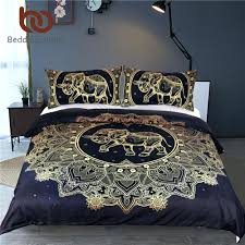 mandala flowers elephant duvet cover set black dark blue bedding set queen vintage soft quilt dark purple duvet cover queen dark pink double duvet cover