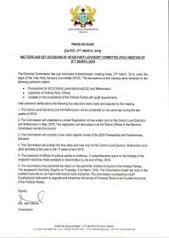 Press Release Format 2020 Election 2020 Ec To Compile New Voters Register Happy Ghana